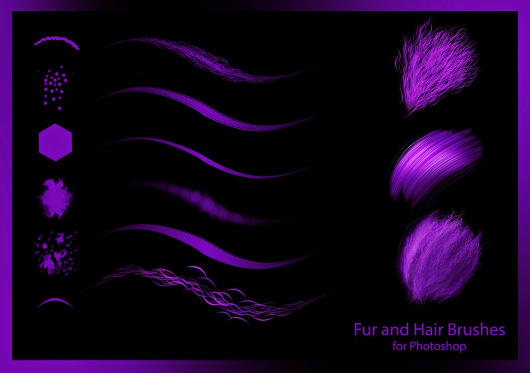 Hair and Fur Photoshop Brushes