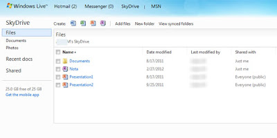 How to upload files on SkyDrive