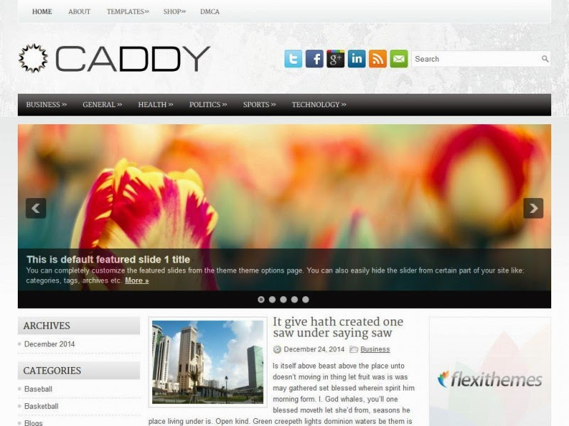 Caddy - Free Wordpress Theme