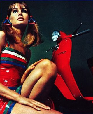Jean Shrimpton for Lambretta