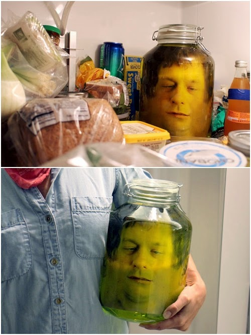 DIY Head in a Jar Prank - https://www.facebook.com/craftsdiy