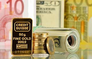 Devises mondiales: l'or, le Dollar et l'Euro