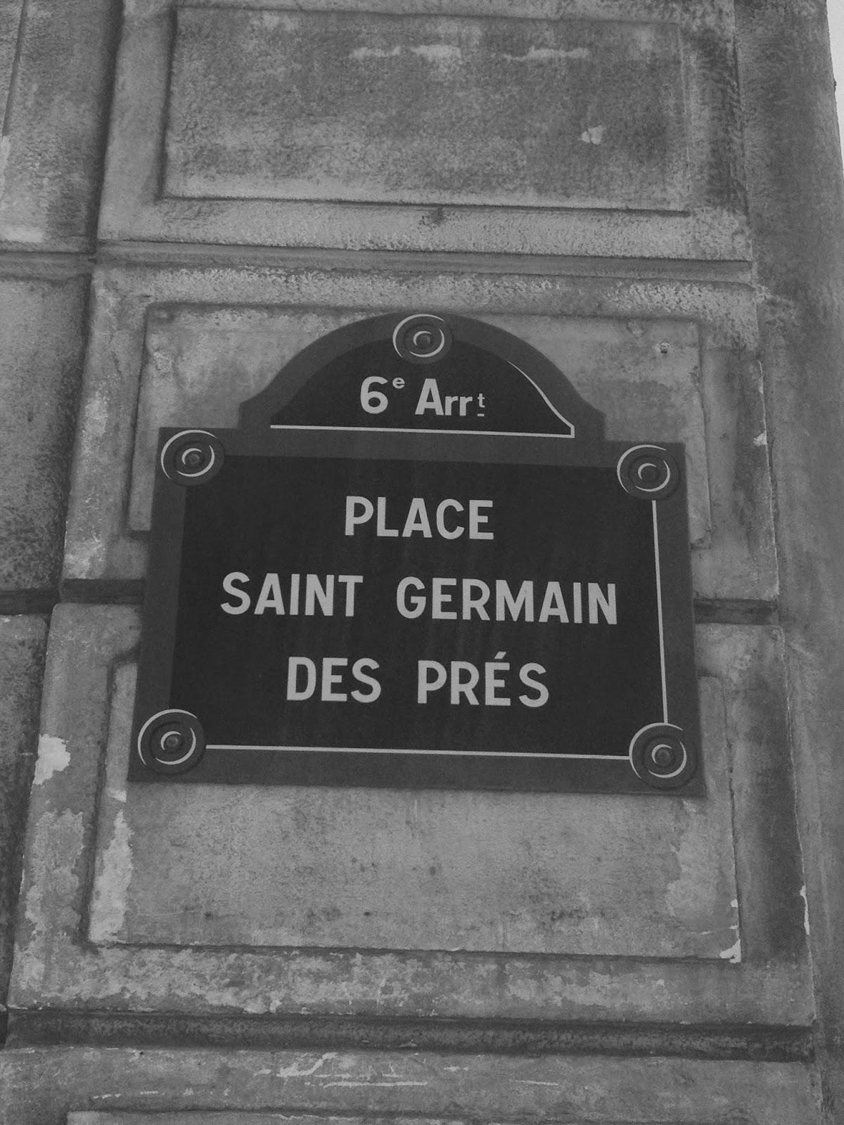Place Saint Germain des Prés sign, Paris 6