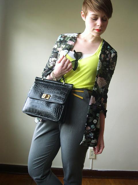 neon, fashion, spring, pixie cut, fleur d'elise