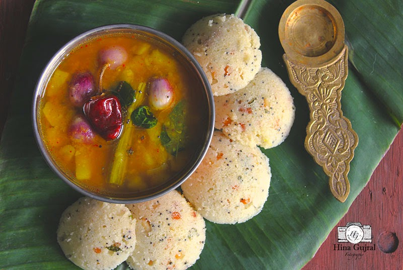 Rava Idli Recipe (Steamed Semolina Dumplings)
