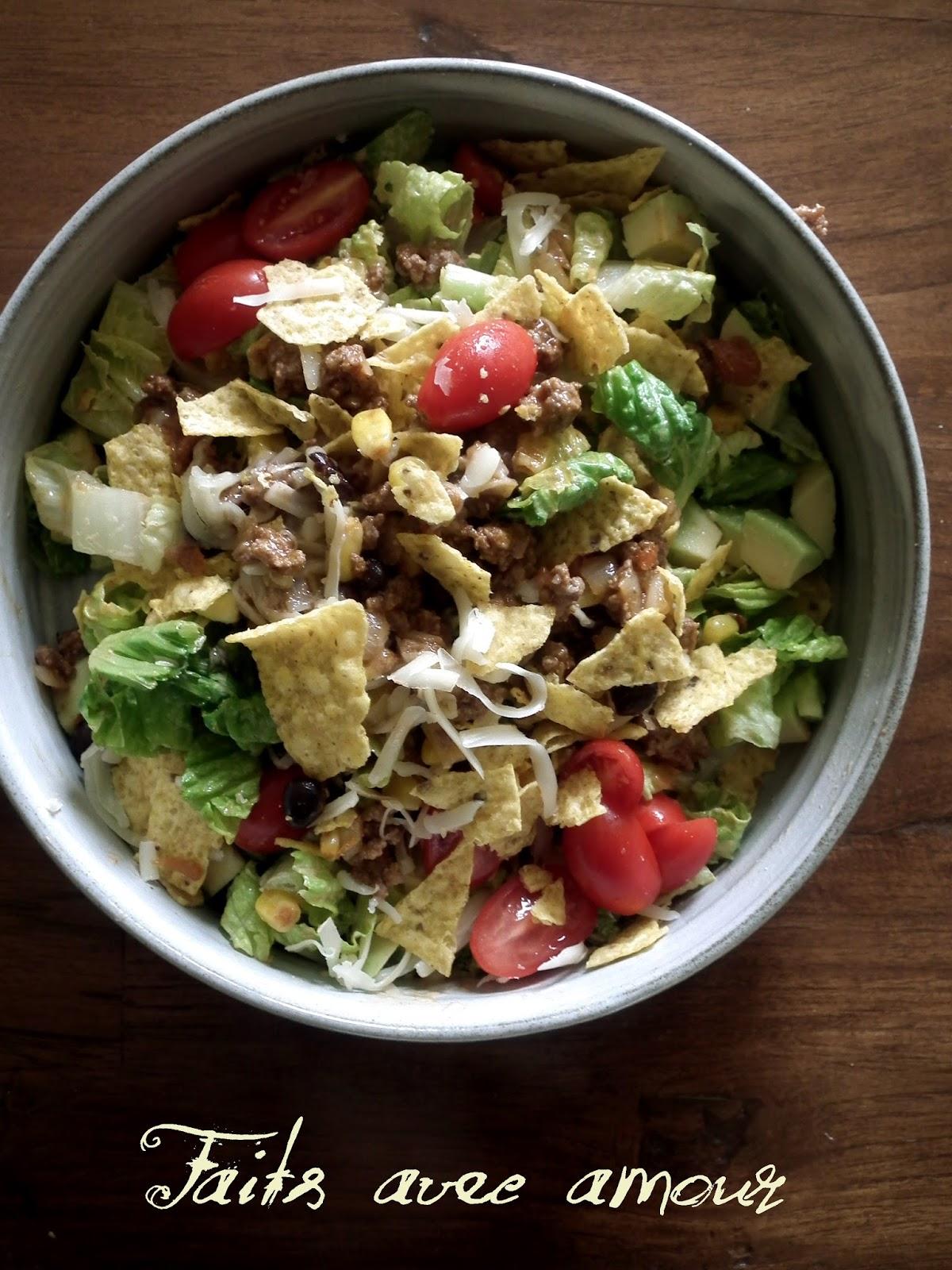 Faits avec amour les aventures culinaires de kiki salade for Assaisonnement tacos maison