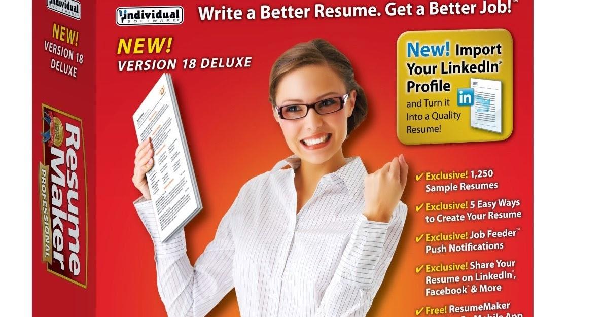 Best Deal Software: ResumeMaker Professional Deluxe 18