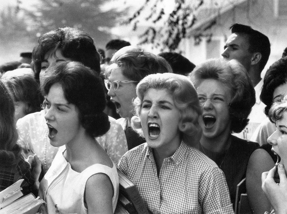 School students cursing black students in montgomery alabama 1963