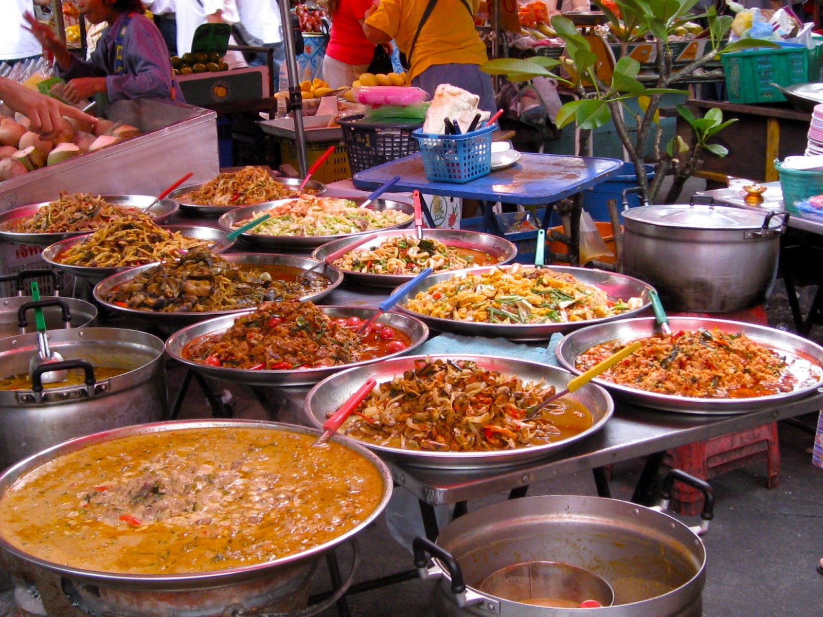 La gastronomie et la cuisine thaïlandaises - étal de marché