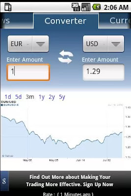 Currency Converter android app screenshot