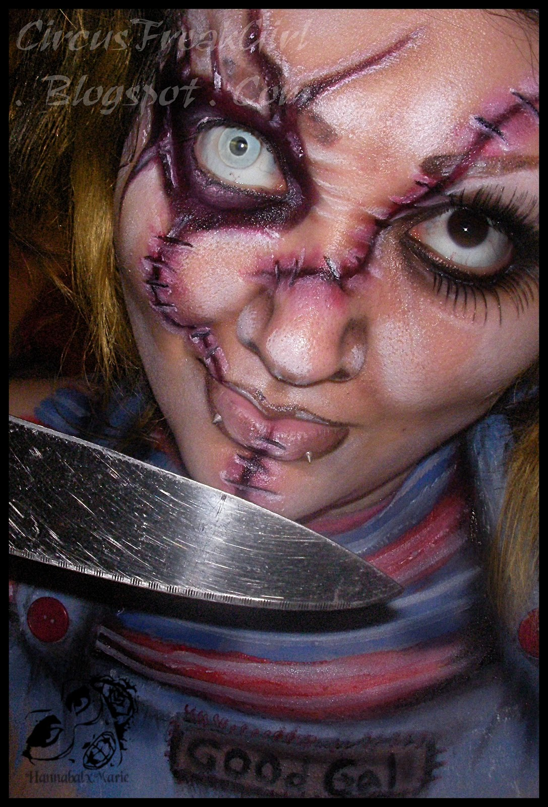 Hannabal Marie Makeup: Female Chucky Makeup Look