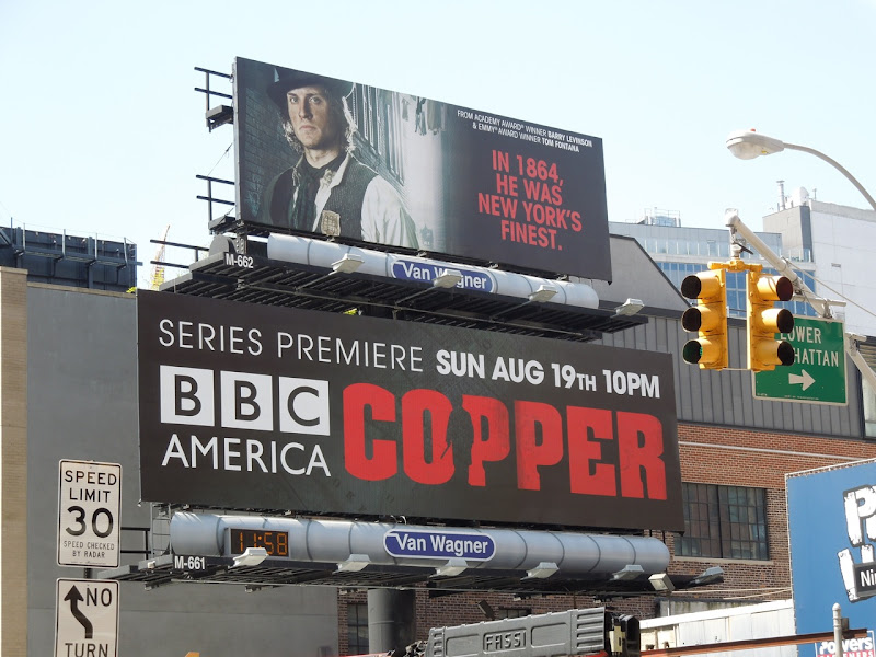 Copper season 1 billboards NYC