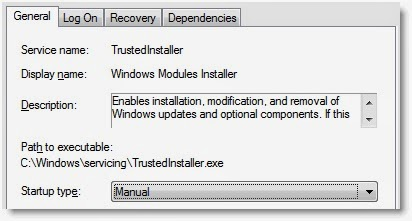 windows modules installer service is not available on this computer