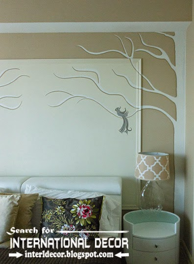 modern wall molding designs ideas and panels for bedroom - Decorative Wall Molding Designs