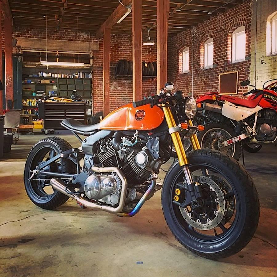 Mercenary garage classified moto xv920 for Garage custom moto