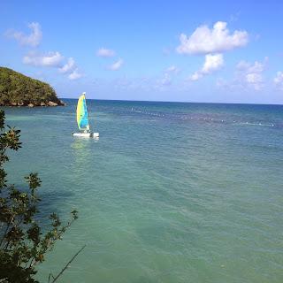 Sail boat in Jamaica
