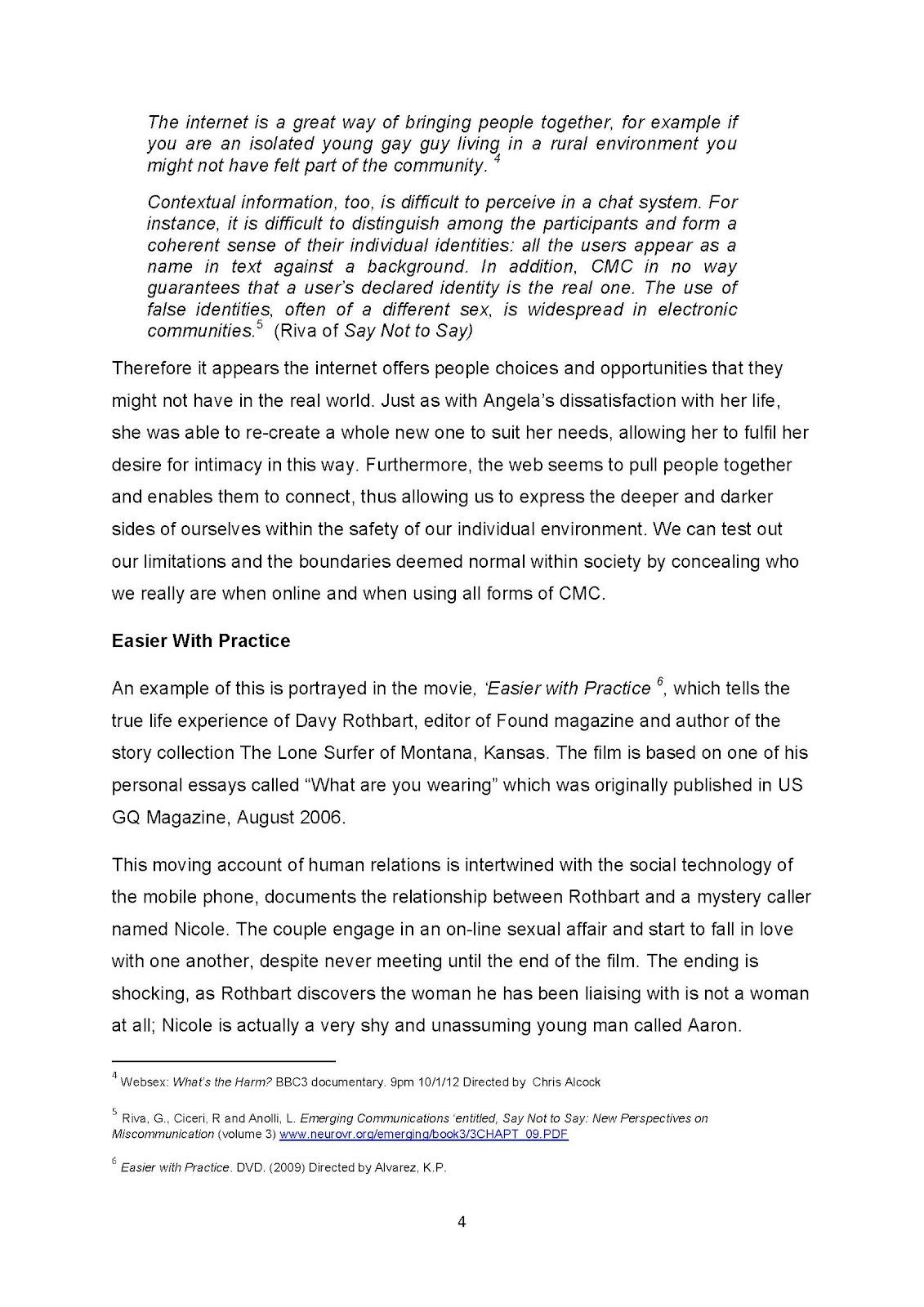 Brain Drain Essay 'Casual Intimacy' (Dissertation by Debra L Singh) Page  Brain Drain Essay