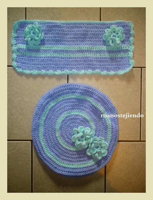 Juegos De Baño Finos:Manos tejiendo: Juego para baño a crochet