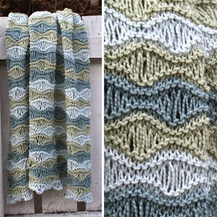 We Like Knitting Breezy Baby Blanket Free Pattern