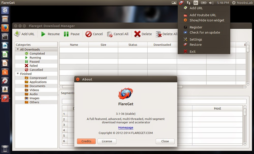 Internet Download application FlareGet has released version 3.1