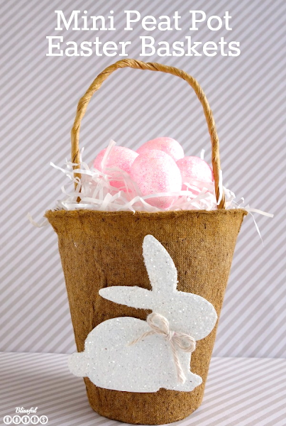 Mini Peat Pot Easter Baskets from Blissful Roots