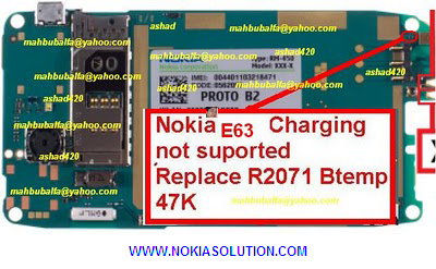 Charging Problem hardware repairing solution shown in the image.