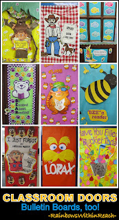 Classroom Door Decoration Ideas + Bulletin Board Ideas as well! (series of articles from school visits)