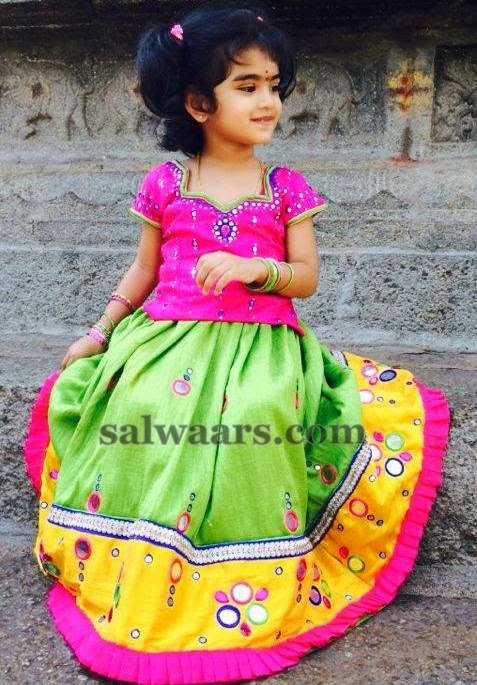 Cute Kid in Lambada Skirt