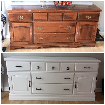 On A Cold Day Dresser turned kitchen hutch