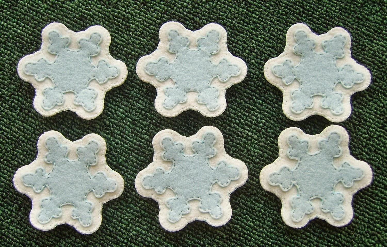 Набор снежинок из фетра для развивающей новогодней елки