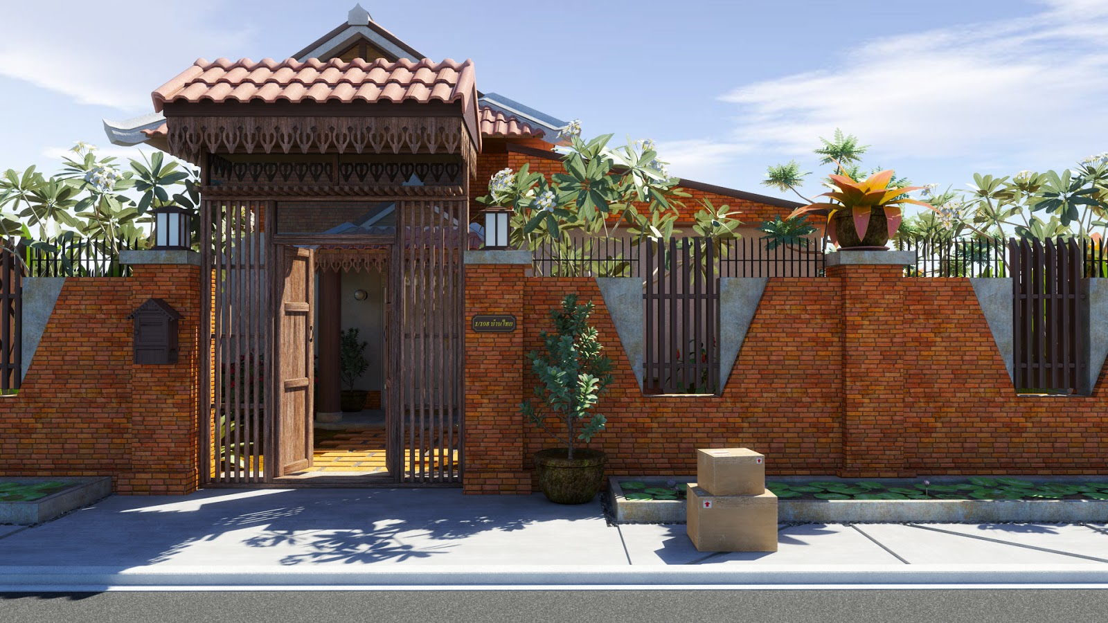 Nattakorn Wongsathitdee Nat 3d Modern Thai House Final