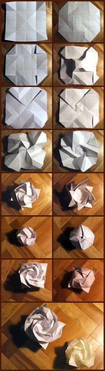 Origami Rose Step By Step Origami Flower Easy
