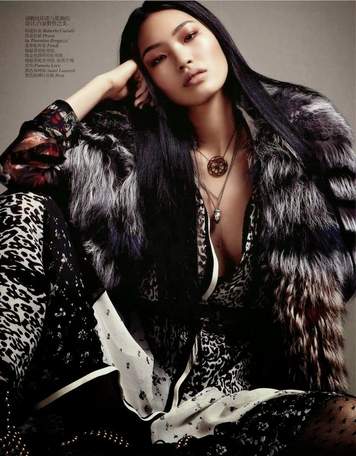 cavalli x preen x fendi. vogue china october 2013
