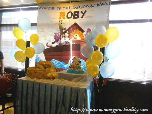 Max's Restaurant Noah's Ark Baptismal Theme