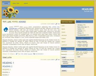 Blog drupal 7 theme