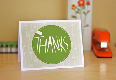 Printable Thank You Card by How About Orange