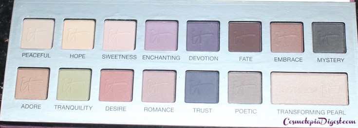 Review and swatches of IT Cosmetics Naturally Pretty Matte Vol. 2 Romantics Palette for Fall 2015, eyeshadow makeup looks, and comparisons with Vol. 1.