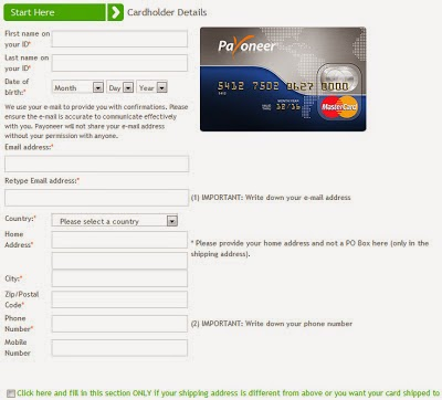 Sign Up Payoneer