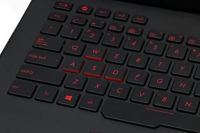 Keyboard menyala merah Asus ROG G751JY