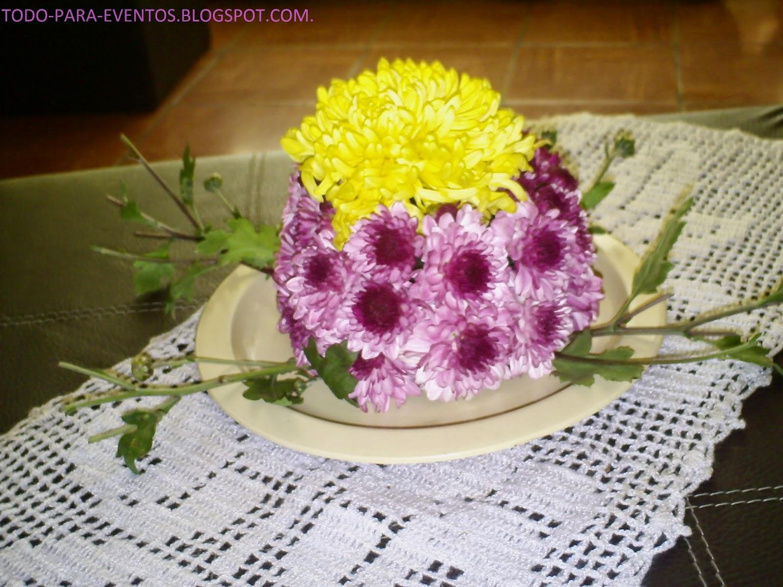 Todo Para Eventos Pastel De Flores