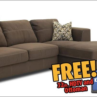 Bob mills furniture oklahoma city laney sectional with for Sectional sofas bob mills