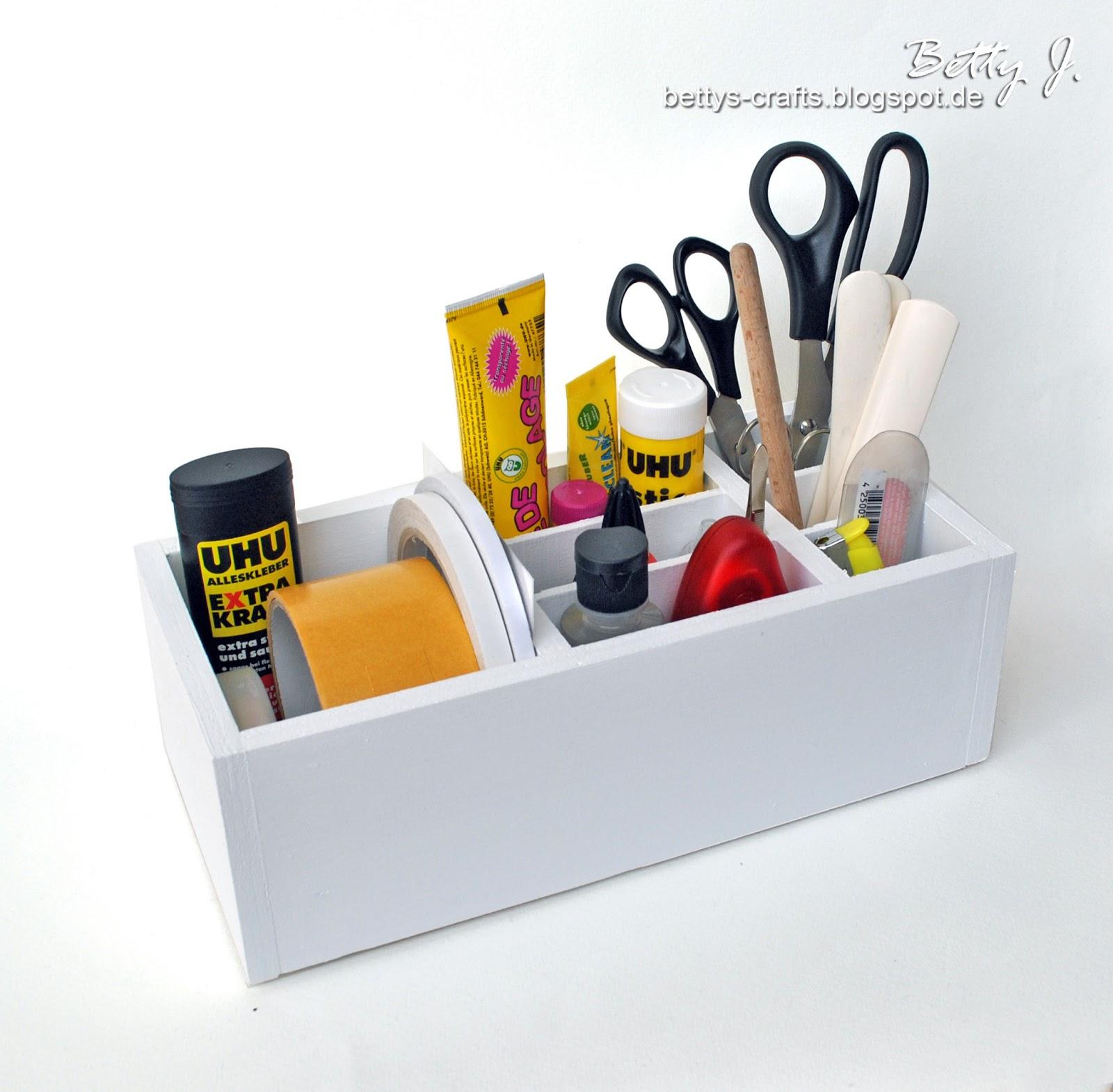 bettys crafts utensilien box desktop organizer. Black Bedroom Furniture Sets. Home Design Ideas