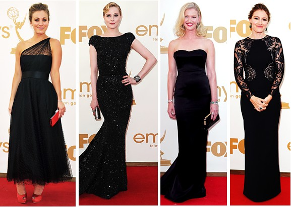 Mode Style Emmy Awards 2011 Red Carpet Trend Black Dresses