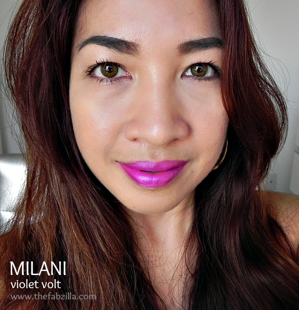 milani violet volt, review, swatch