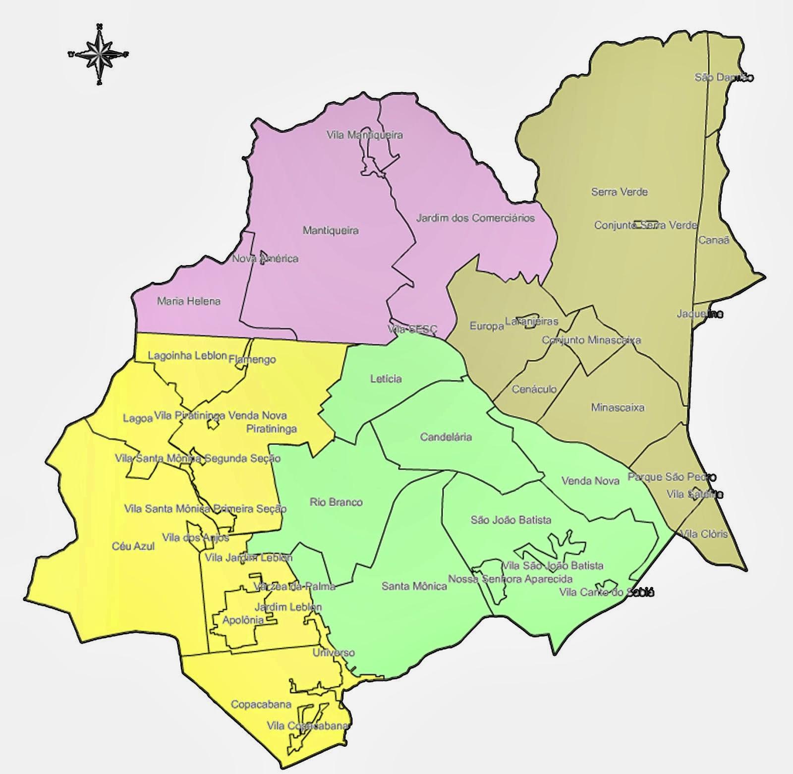 Mapa Regional Venda Nova