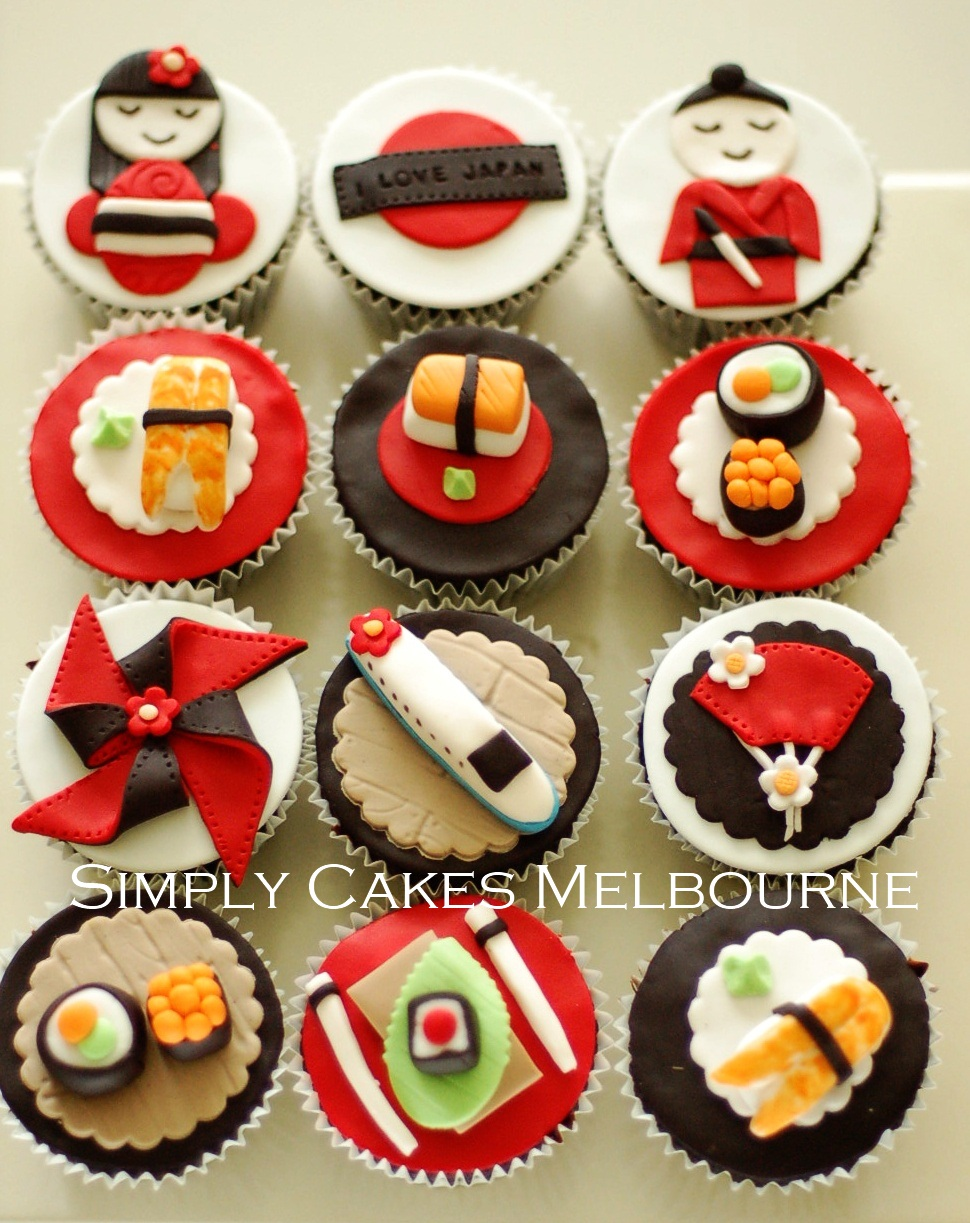 Simply Cakes Melbourne Japanese Themed Cupcakes