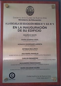 """<u><p align=""""right"""">Escuela de Educación Media N° 3 D.E. 4</p></u>"""