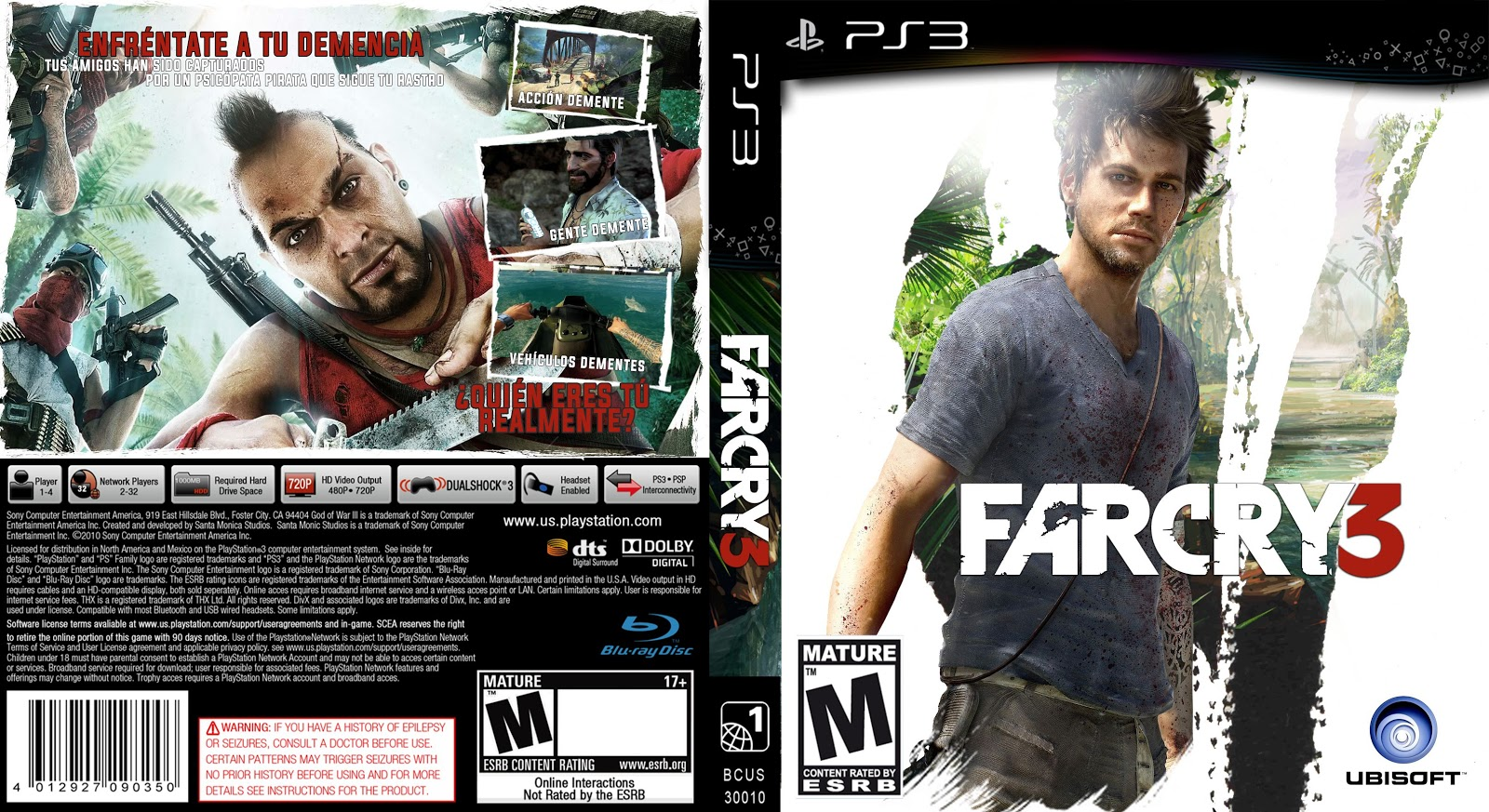 Capa Far Cry 3 PS3
