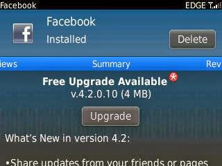 Download Aplikasi Facebook Terbaru Untuk Balckberry Versi 4.2.0.10