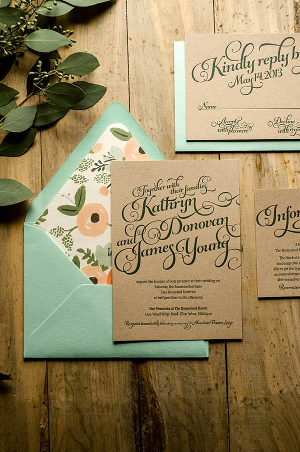 30 Inexpensive and Affordable Wedding Invitations Samples that – Calligraphy Stencils for Wedding Invitations